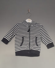 Load image into Gallery viewer, 3-6 months Navy stripey zipped cardigan - Next