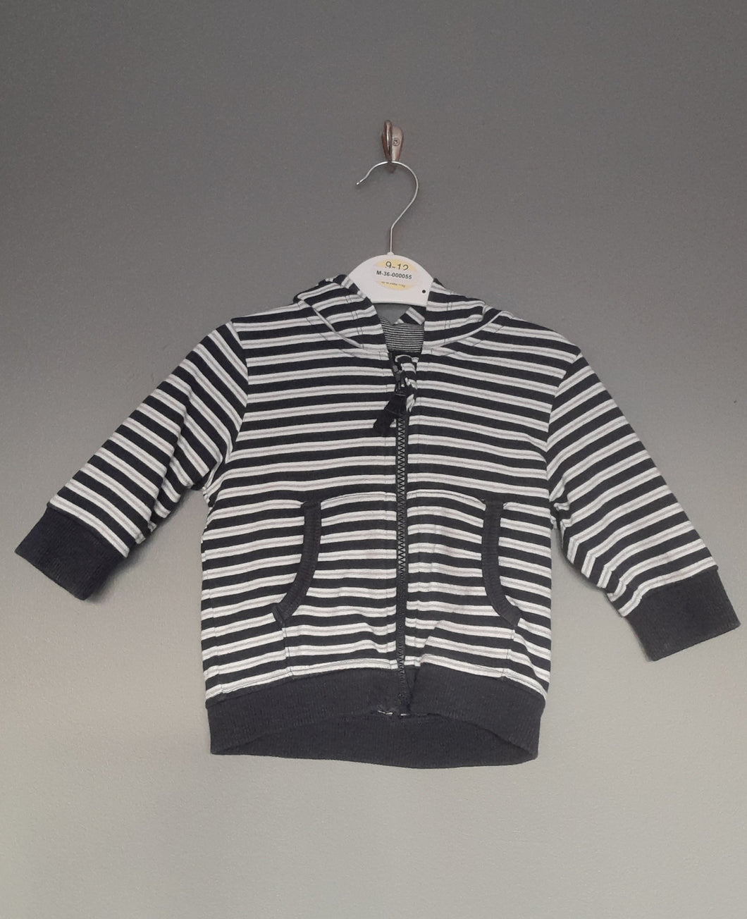 3-6 months Navy stripey zipped cardigan - Next