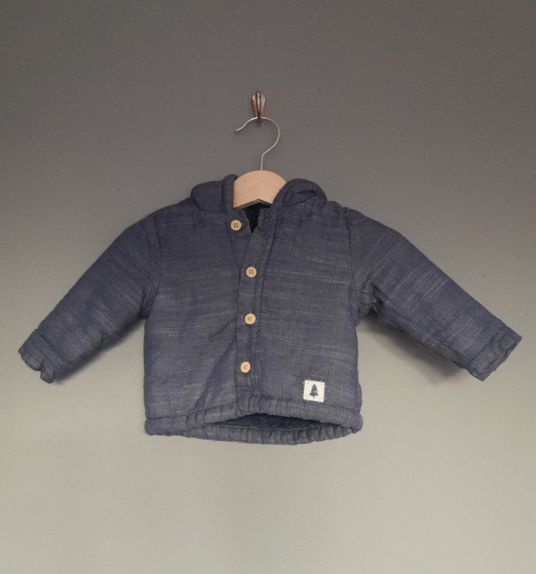 0-3 months Denim hooded jacket - Mothercare