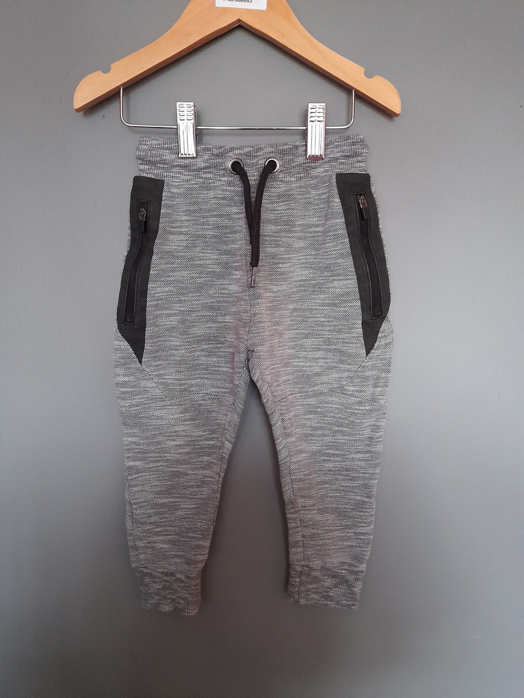 12-18 months Grey/Black Joggers - Nutmeg