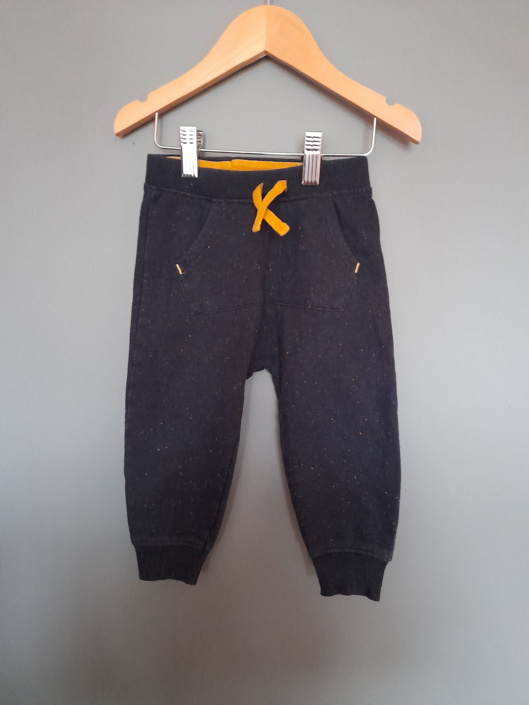 12-18 months Navy/Yellow speckled Joggers - Nutmeg