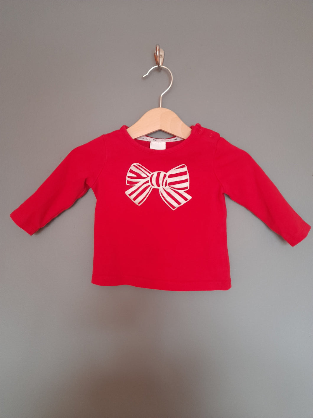 3-6 months Red Bow Top - Jasper Conran