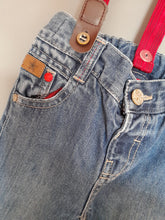 Load image into Gallery viewer, 12-18 months Jeans with detachable braces - M & co