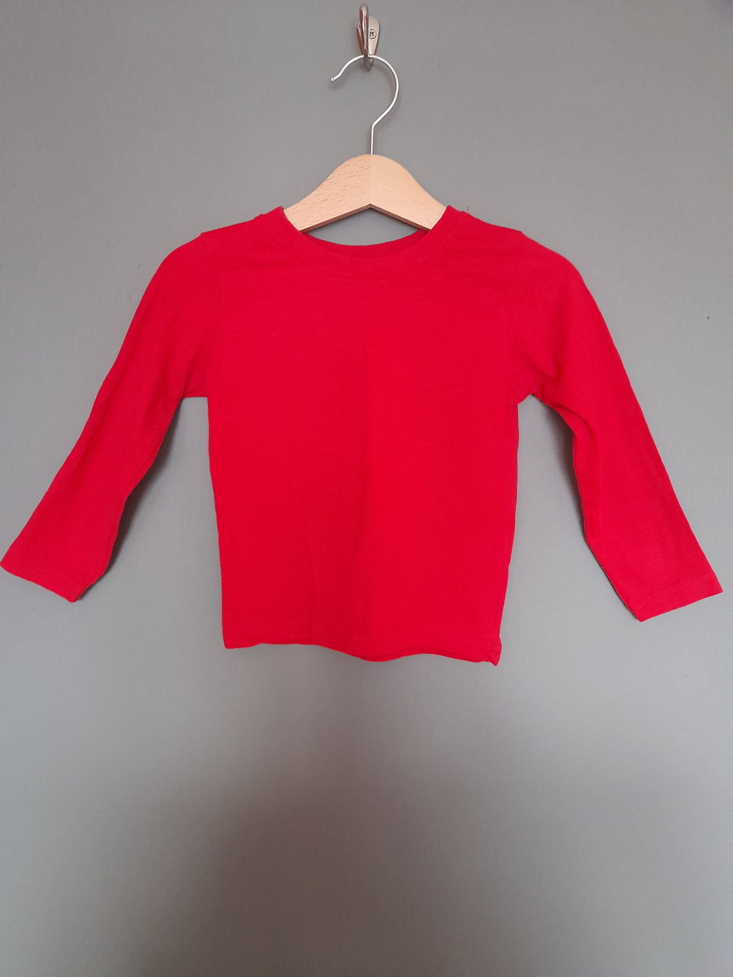 12-18 months Red long Sleeve top - Primark