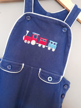 Load image into Gallery viewer, 12-18 months Blue Train Short Dungarees - M&Co