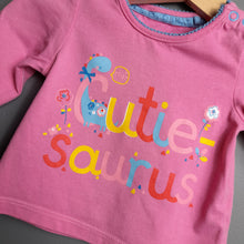 Load image into Gallery viewer, 0-3 months Pink Cutie Saurus Top - Tu