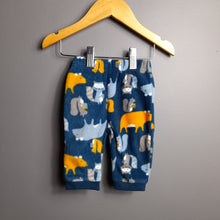 Load image into Gallery viewer, 0-3 months Blue Fleece Pants - Nutmeg