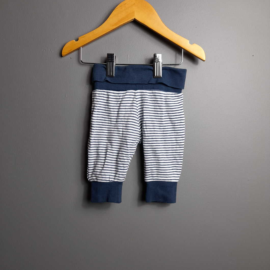 0-3 months Navy Striped Joggers - Mothercare