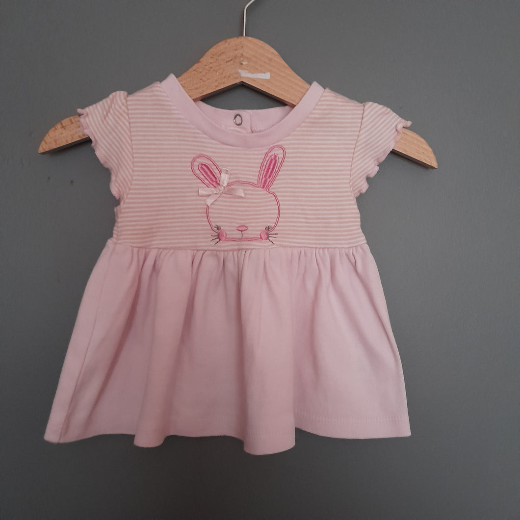0-3 months Pink Rabbit Dress - Pep & Co