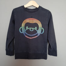 Load image into Gallery viewer, 4-5 years Navy Monkey Rainbow Tshirt - Next