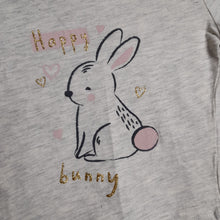 Load image into Gallery viewer, 6-9 months Grey Happy Bunny Top - Primark