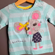 Load image into Gallery viewer, 3-6 months Turquoise Mouse Top - Next