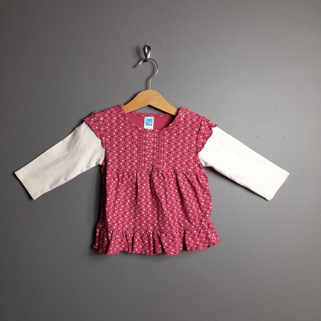 9-12 months Pink Polka Dot Top - Adams