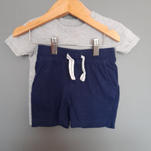Load image into Gallery viewer, 12-18 months Grey Tshirt & Navy shorts - George & Pep&co