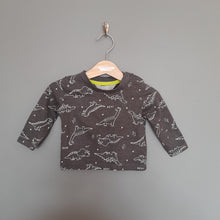 Load image into Gallery viewer, 3-6 months black dinosaur top - Primark