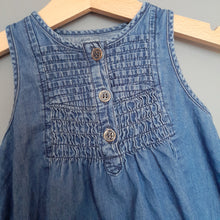 Load image into Gallery viewer, 9-12 months lightweight denim dress - Primark