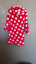 Load image into Gallery viewer, 5-6 years Pink Heart Print fleece dressing gown - George