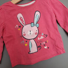 Load image into Gallery viewer, 9-12 months Pink bunny Tshirt - Primark