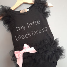 Load image into Gallery viewer, 9-12 months 'My Little Black Dress' Vest - Catpapa
