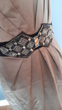 Load image into Gallery viewer, Size 10 Sable Fitted Dress with embellishment - Autograph