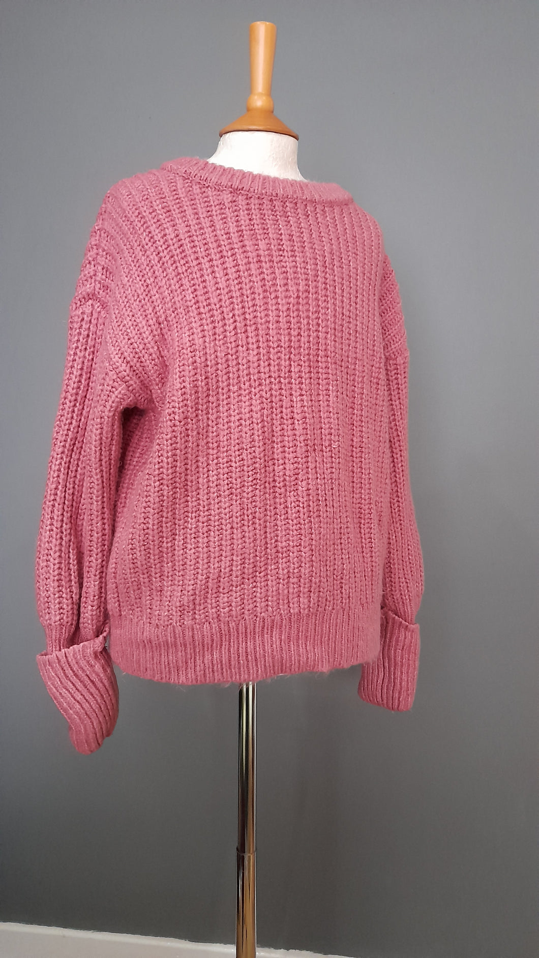 Size Medium Pink Knitted Jumper - George