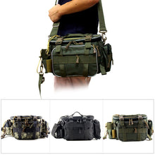 Lade das Bild in den Galerie-Viewer, Multifunktionale wasserdichte Angeltasche Outdoor Sports Taillentasche