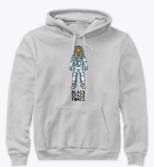 wokeandfly HOODIE I AM WOKE BLACK SPACE FORCE PULLOVER NEW YORK T SHIRT