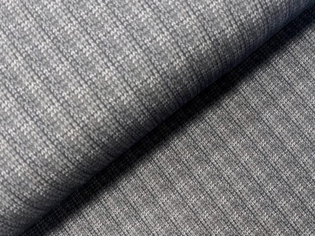 French terry chevron gris - 1