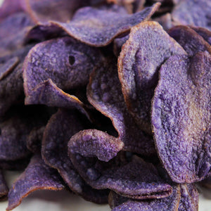 Jackson's Honest Purple Heirloom Potato chips close up carousel thumbnail image
