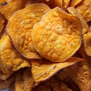 Jackson's Honest Sweet Potato chips close up carousel thumbnail image