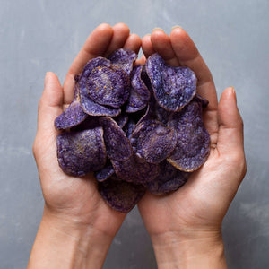 close up view of Jackson's Honest Purple Heirloom Potato chips carousel thumbnail image