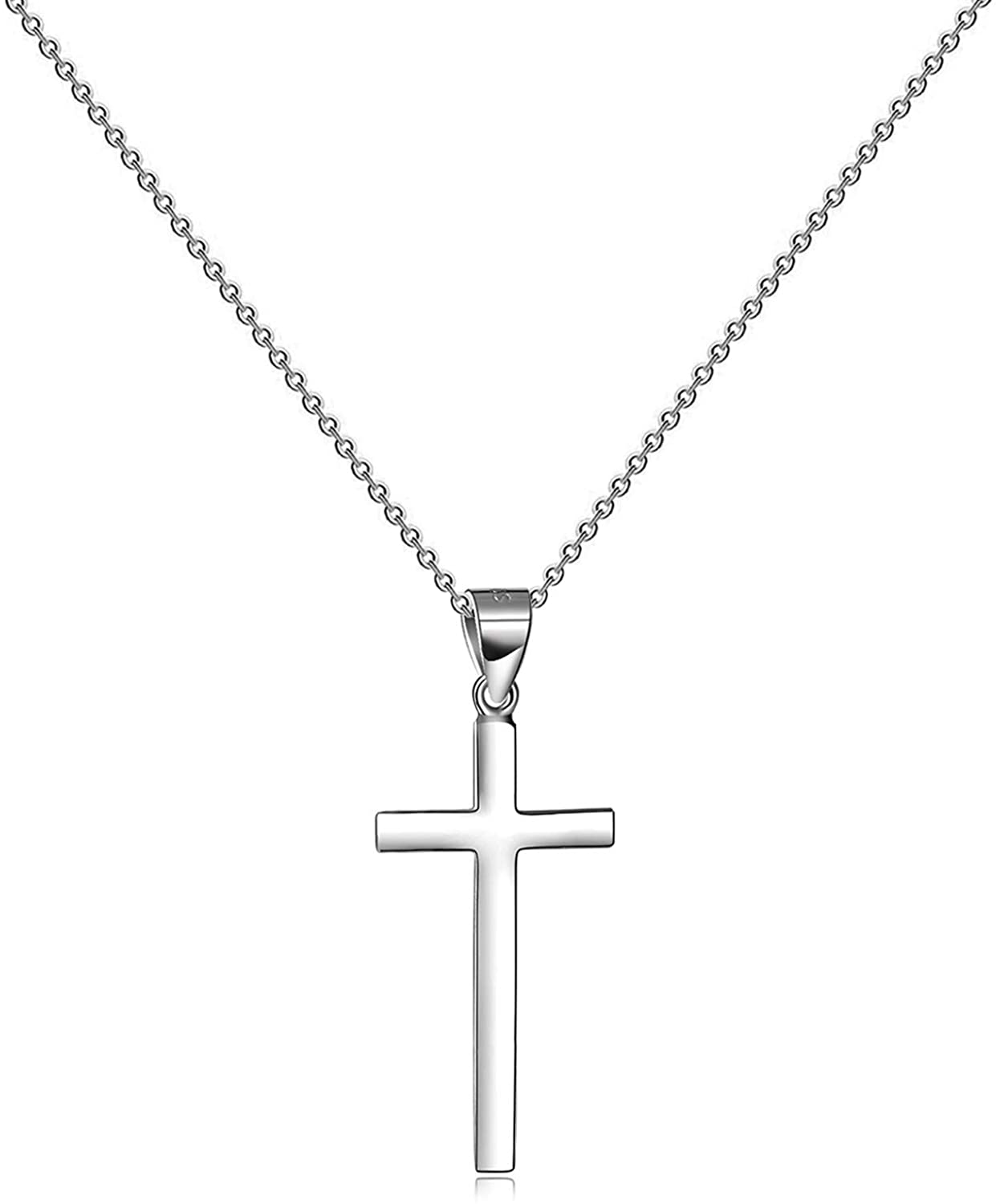 Tiny Cross Pendant Necklace for Women Simple Cross Necklaces