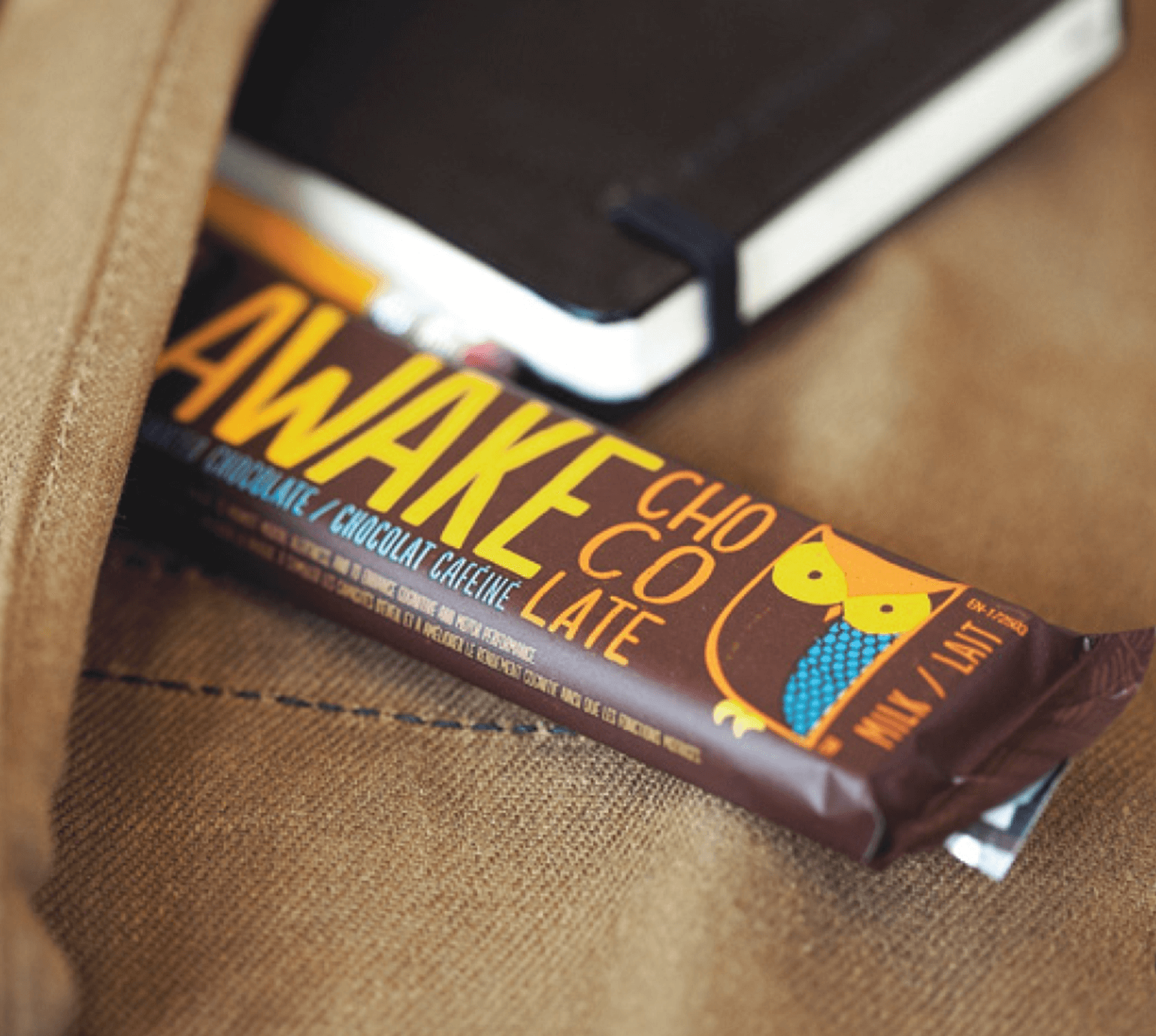 Lifestyle image of Awake bars in a pocket