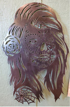 "Load image into Gallery viewer, Sugar Skull Woman - 10 or 14ga steel - 16""x25"""