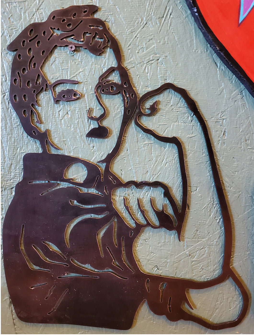 Rosie The Riveter, steel 1/8