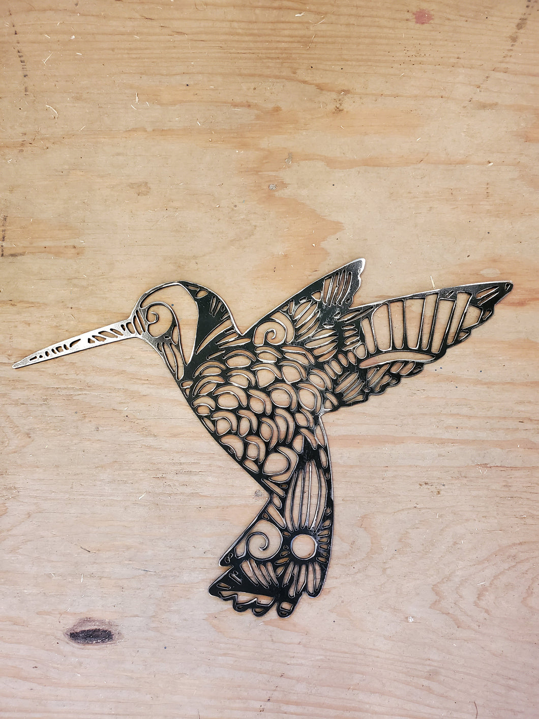 Hummingbird metal wall art - available in extra thick 10ga or sturdy 14ga steel - 16