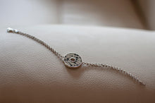 Load image into Gallery viewer, Silver Bracelet with Dalmatian Stone Pendant