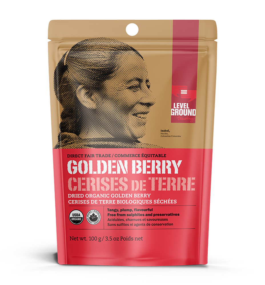 Organic dried golden berry, 100 gram package