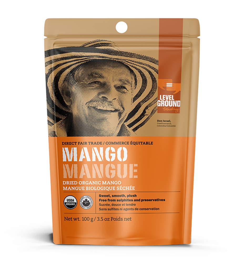 Organic dried mango, 100 gram package