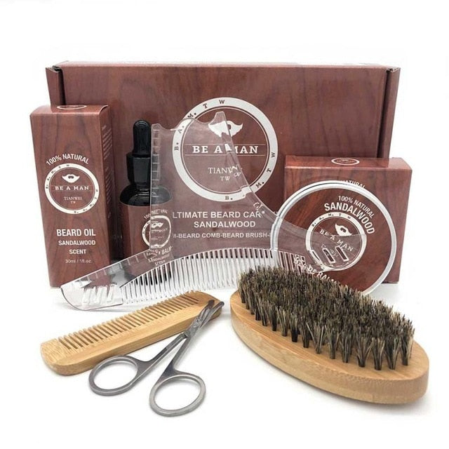 NEW 6pcs/set Men Beard Kit