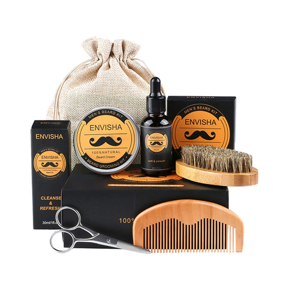 5pcs/set Men Beard Kit