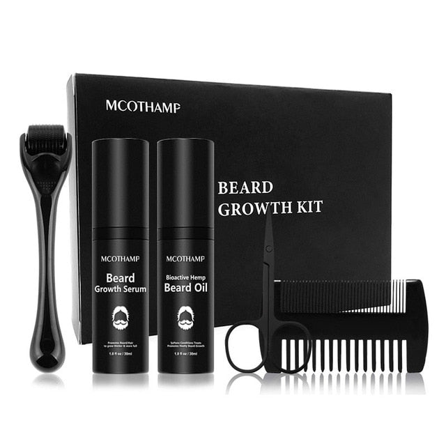 4 Pcs/set Men Beard Growth Kit