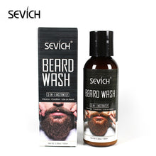 Load image into Gallery viewer, Sevich Men Beard Care Kit 100ml Nourishing Beard Wash Shampoo Natural Smoothing Moustache Care Conditioner Beard Styling