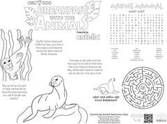Placemat Coloring Sheet for Event