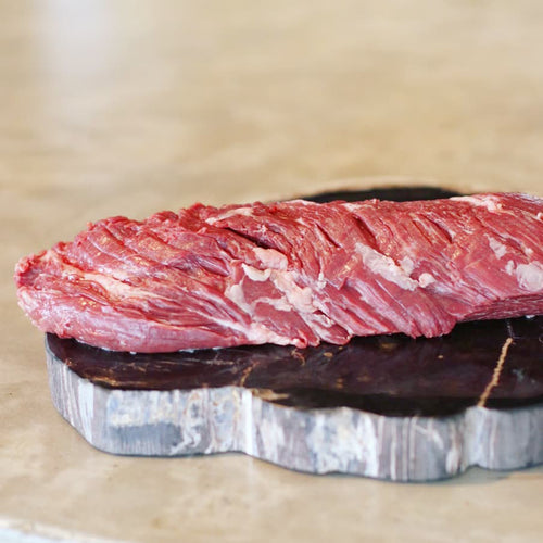 This WX Australian Wagyu Skirt Steak is marbled beautifully and full of rich flavor, it is from Rangers Valley in Glen Innes, Australia. We hand select all of our meats prior to purchase to ensure that we offer nothing but the finest Wagyu on the Market.