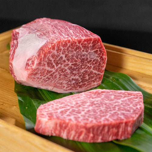 This A5 Wagyu 6oz tenderloin filet is marbled beautifully and cuts like butter, it is from the Suekichi Genki Farm in Miyazaki, Japan. We hand select each loin prior to purchase to ensure that we offer nothing but the finest Wagyu on the Market.   A5 Wagyu beef from Miyazaki prefecture is among the finest and most luxurious brands of beef in the world. A highly sought-after selection of A5 Japanese Miyazaki Wagyu is Miyazakigyu, which is world-renowned for its intricate, snowflake-like marbling.