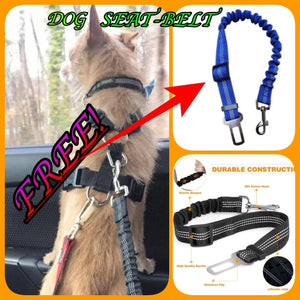 FREE Upgraded Pet Safety Dog Seat Belt Adjustable