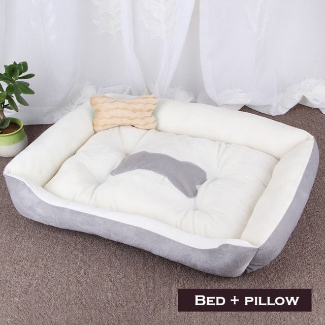 Bone Pet Bed Warm Washable  For Cat Puppy