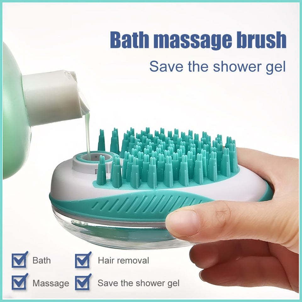 2-in-1 SPA Dod/Cat Bath Massage Brush