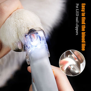 Professional LED Light Pet Nail Clipper Trimmer